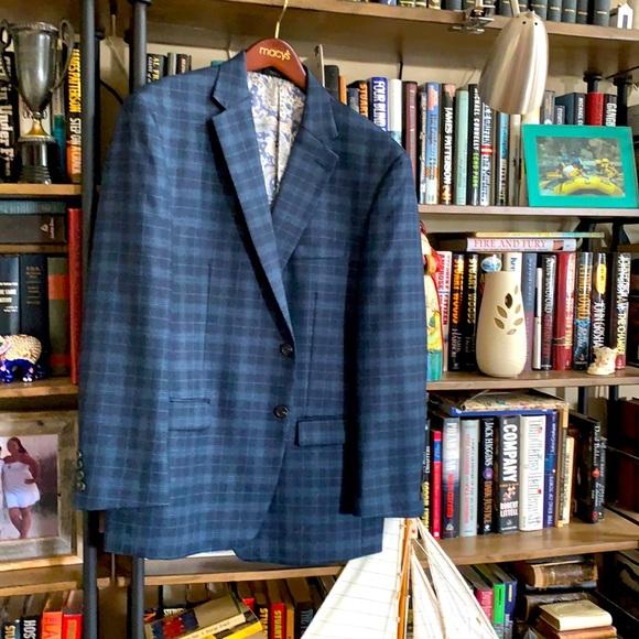 RL timeless rich blue slim fit sport coat 46R